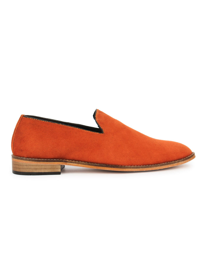 Suede Loafer - Orange