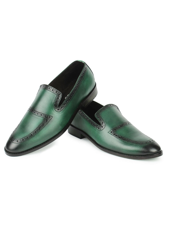 Brogue Loafers - Green