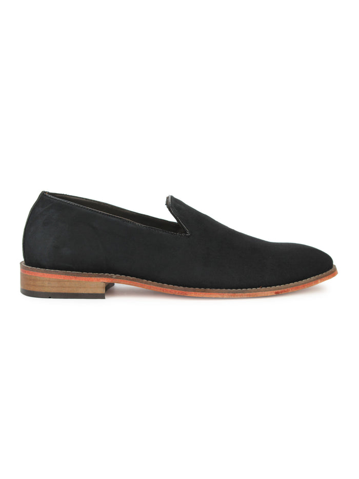 Suede Loafer - Black