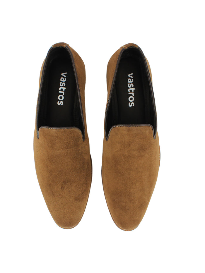 Suede Loafer - Brown