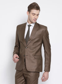 Slim Fit Brown Suit Jacket