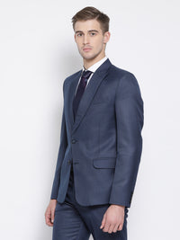 Slim Fit Space Blue Suit Jacket