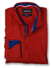 crimson star shirt image flat