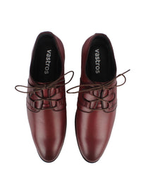 Derby Laced Shoes - Oxblood