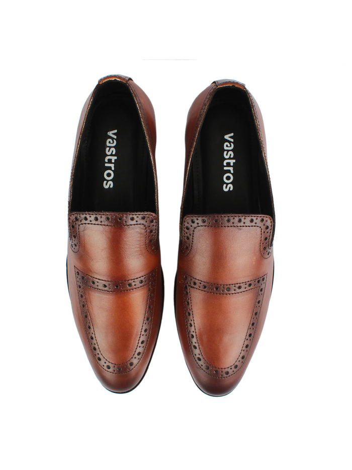 Brogue Loafers - Brown