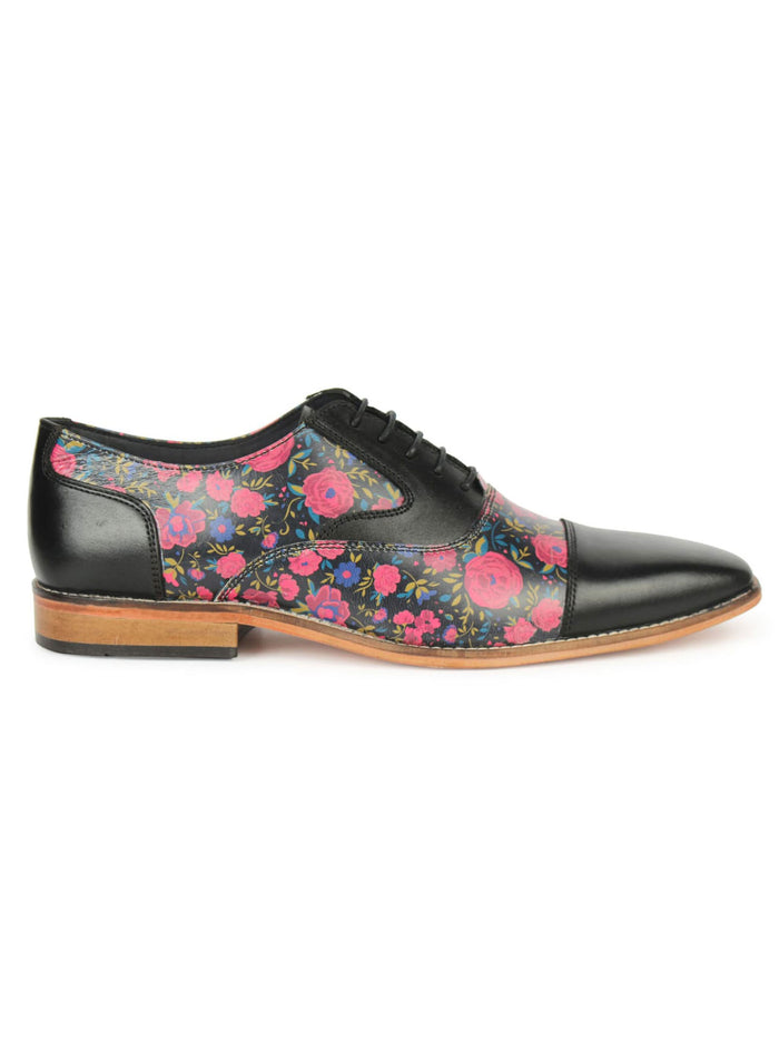Black Printed Oxford - Floral