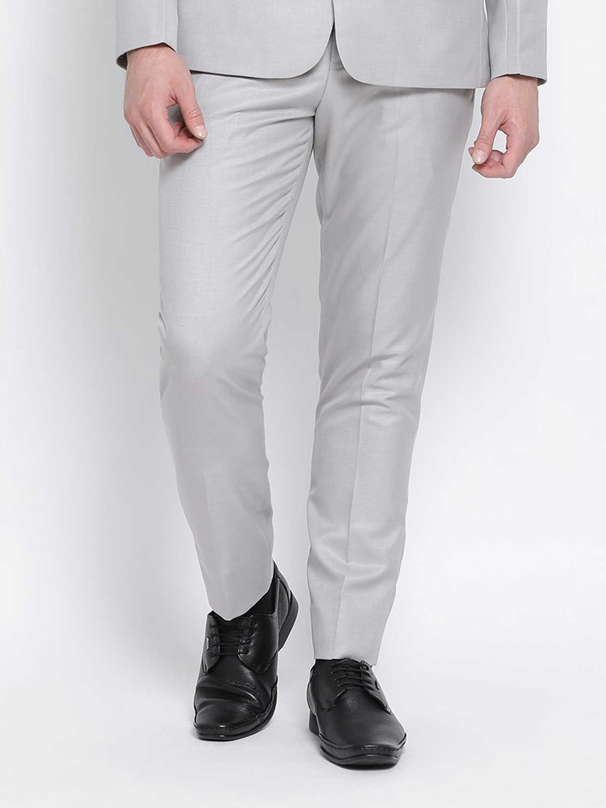 Slim Fit Grey Suit Pant