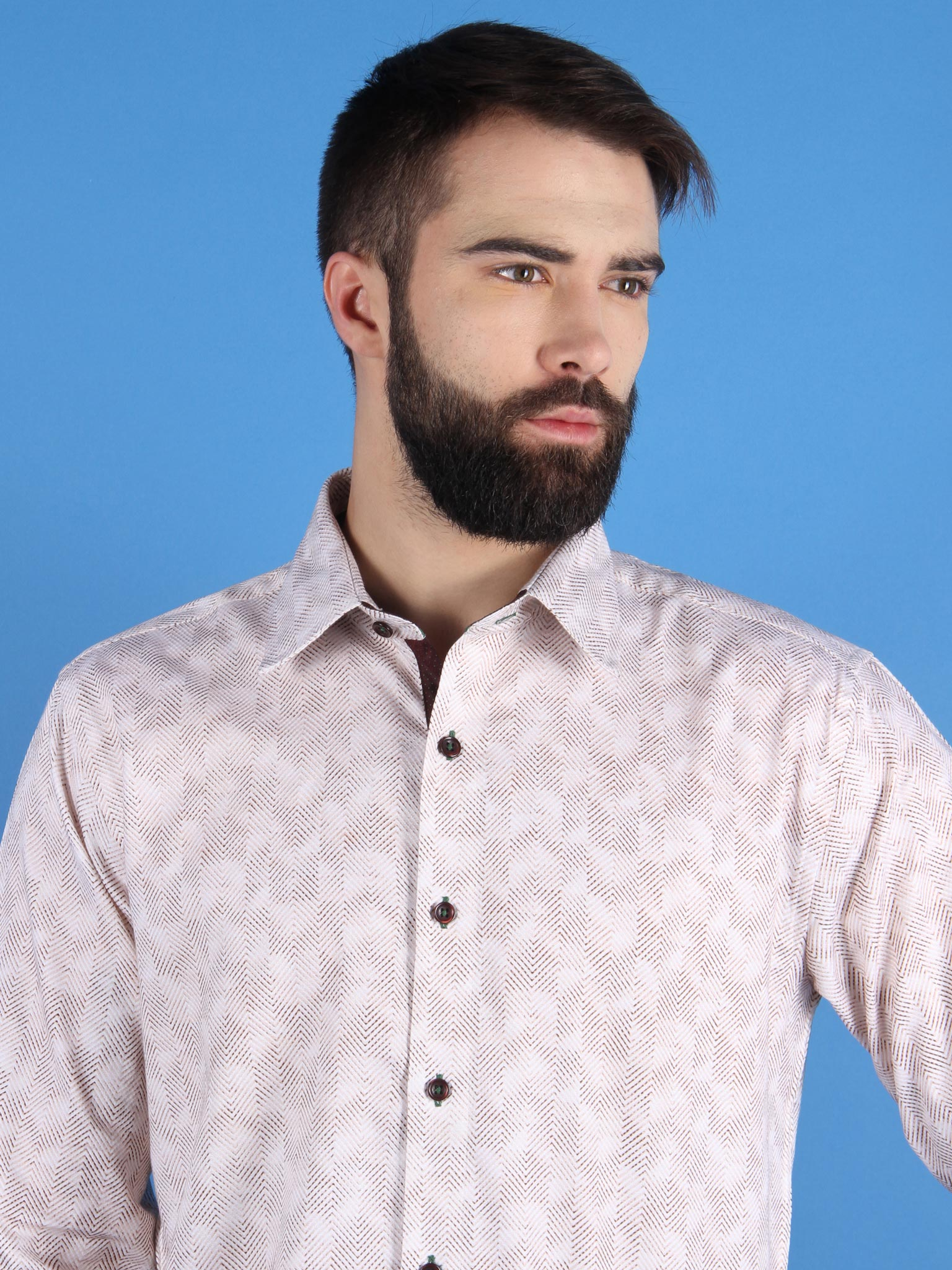 zen garden shirt model collar image