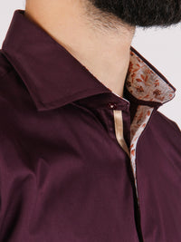 grape vine shirt model collar image