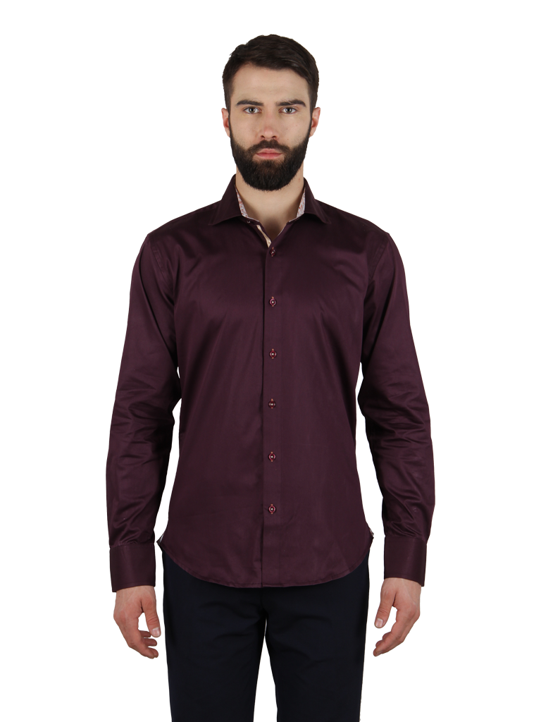 grape vine shirt fit front image