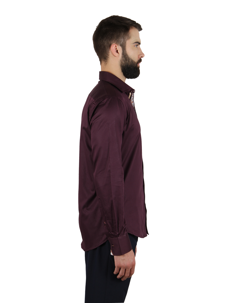 grape vine shirt fit right side image