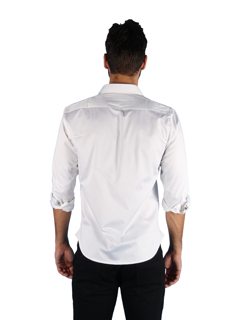 black tie shirt fit back image