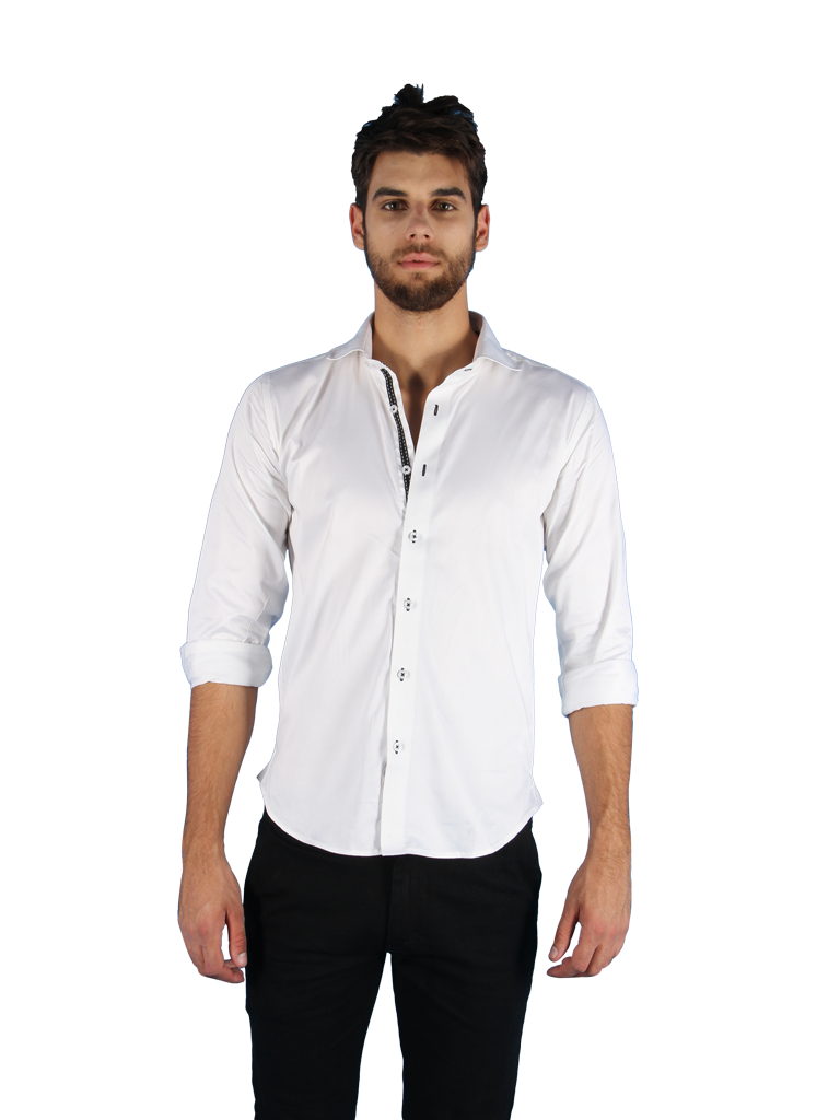 black tie shirt fit front image