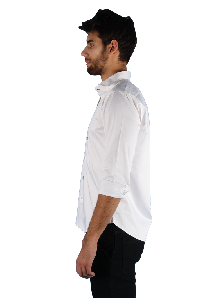 black tie shirt fit left side image