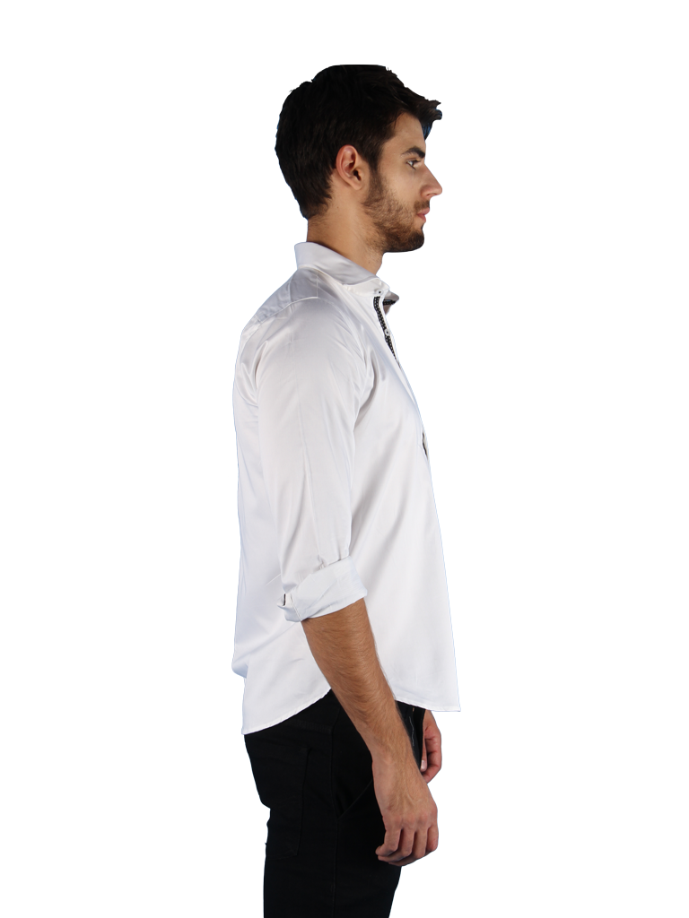 black tie shirt fit right side