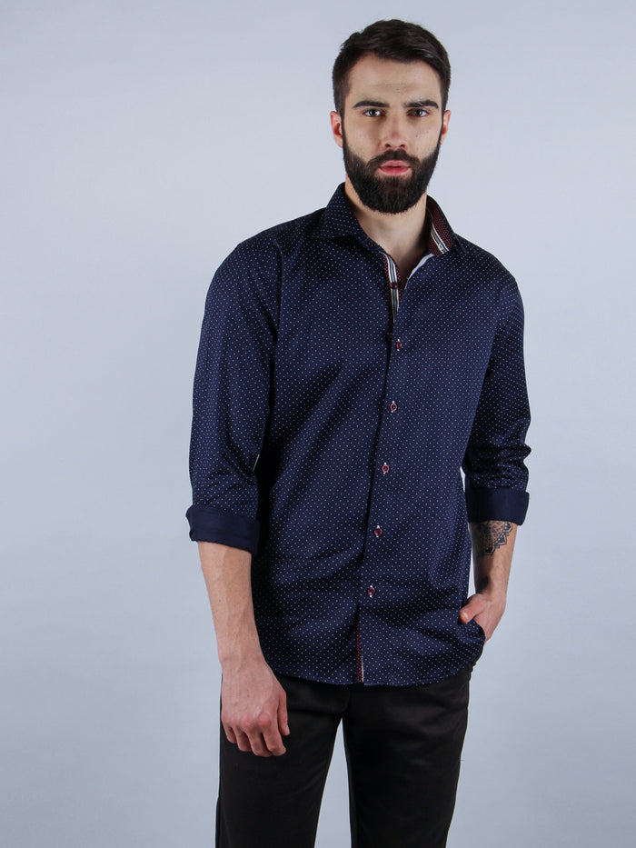 suave evening shirt model image