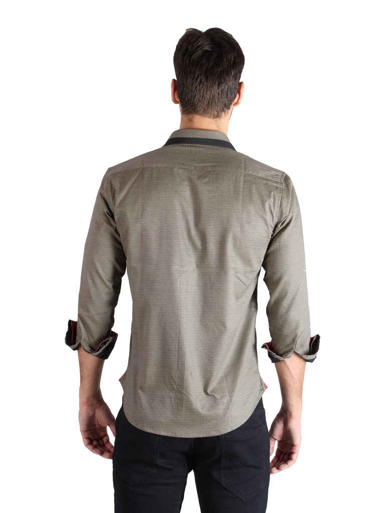 stone grill shirt fit back image
