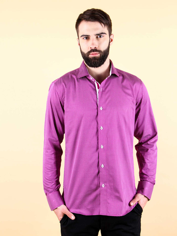 plum wine shirt model image