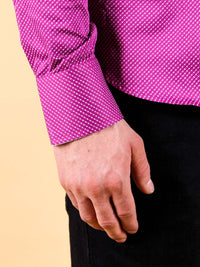 plum wine shirt model cuff image