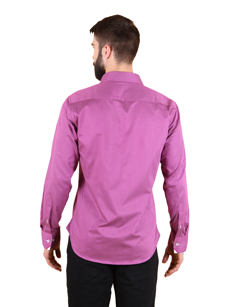 plum wine shirt fit back image