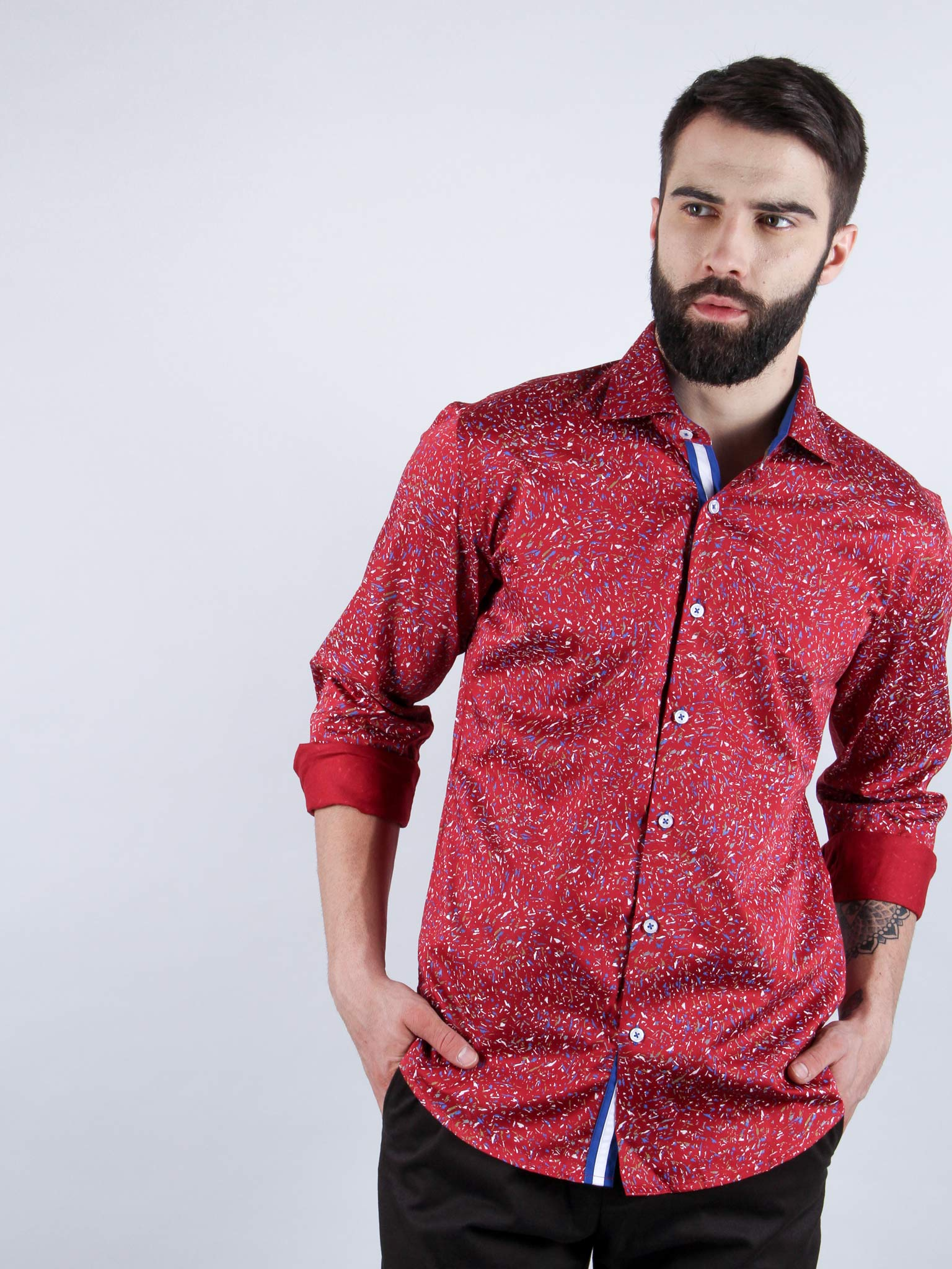 mixed salsa shirt model image
