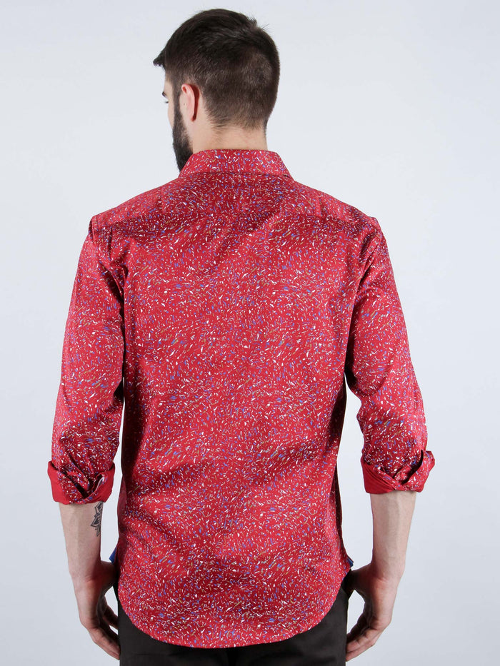 mixed salsa shirt model back image
