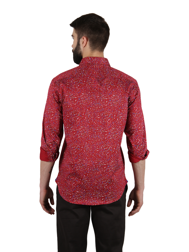 mixed salsa shirt fit back image