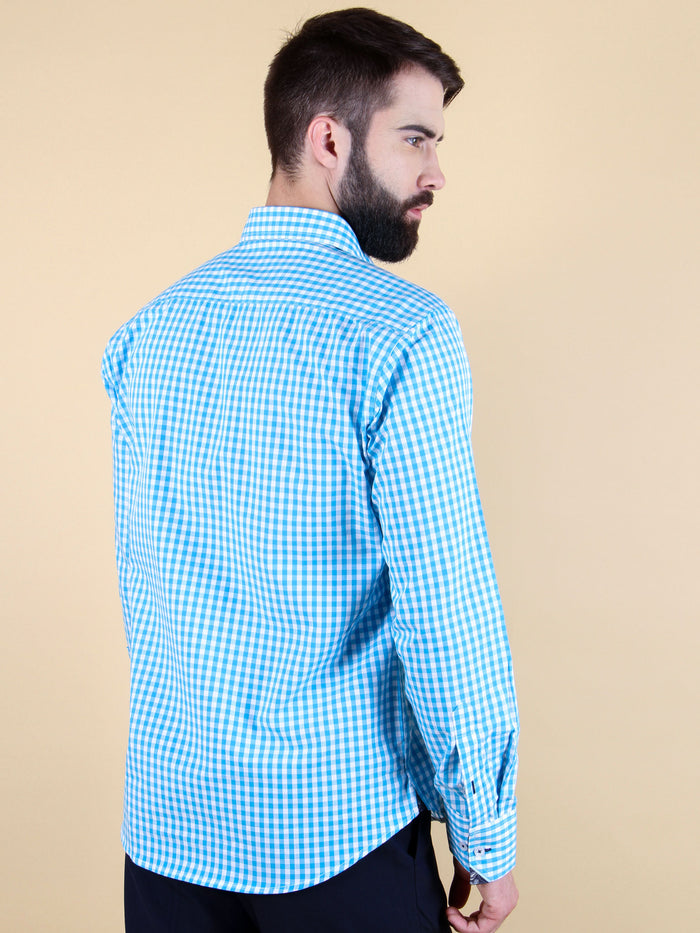 ocean current shirt model back image