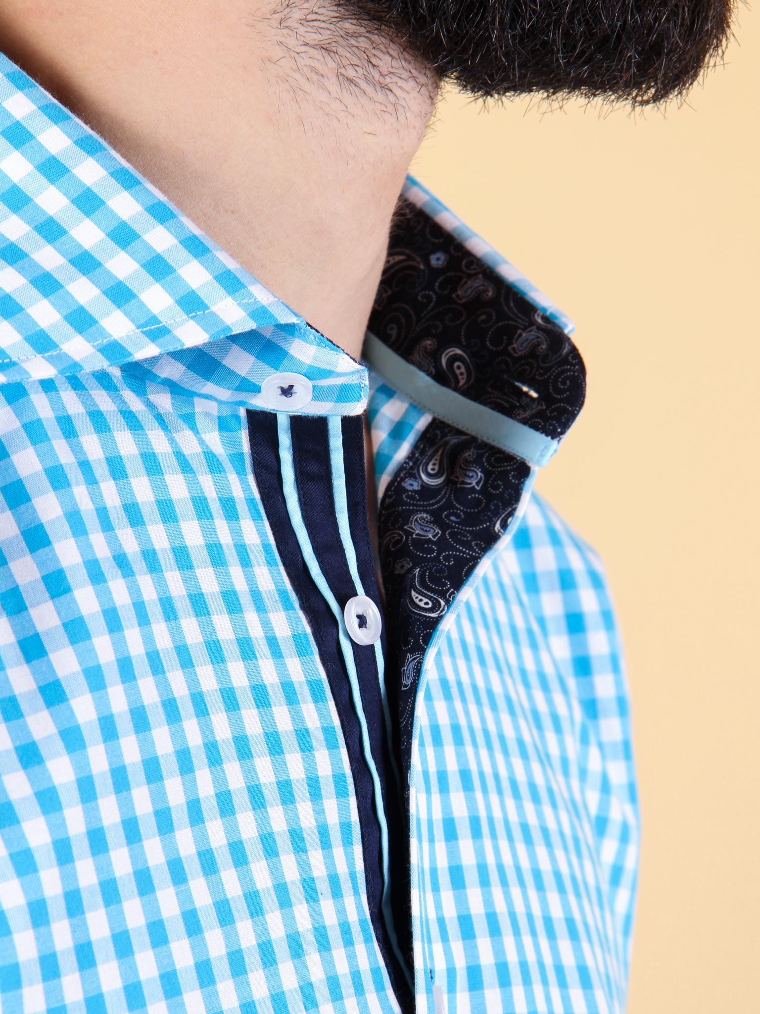 ocean current shirt model collar image