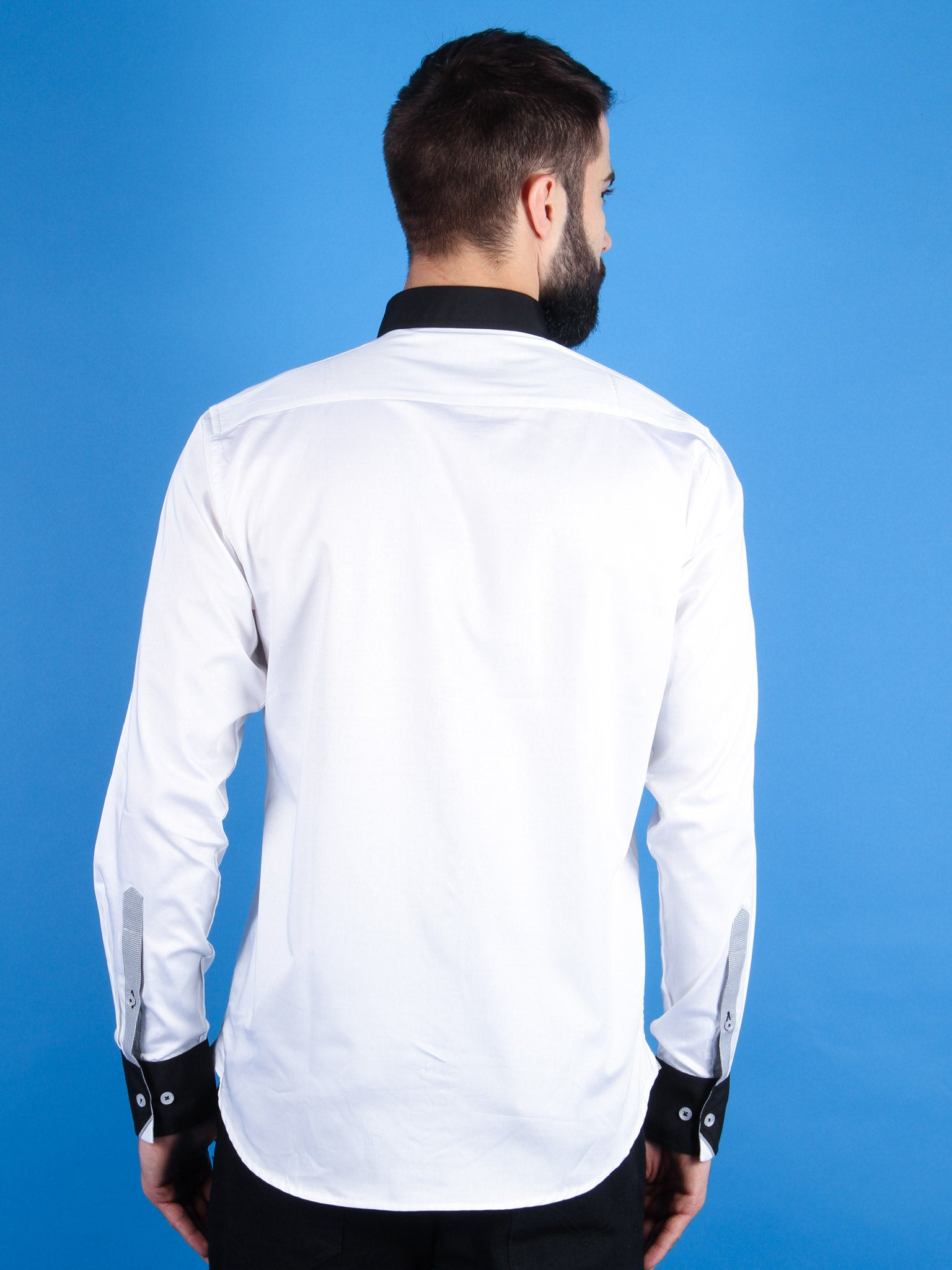 nouveau tux shirt model back image