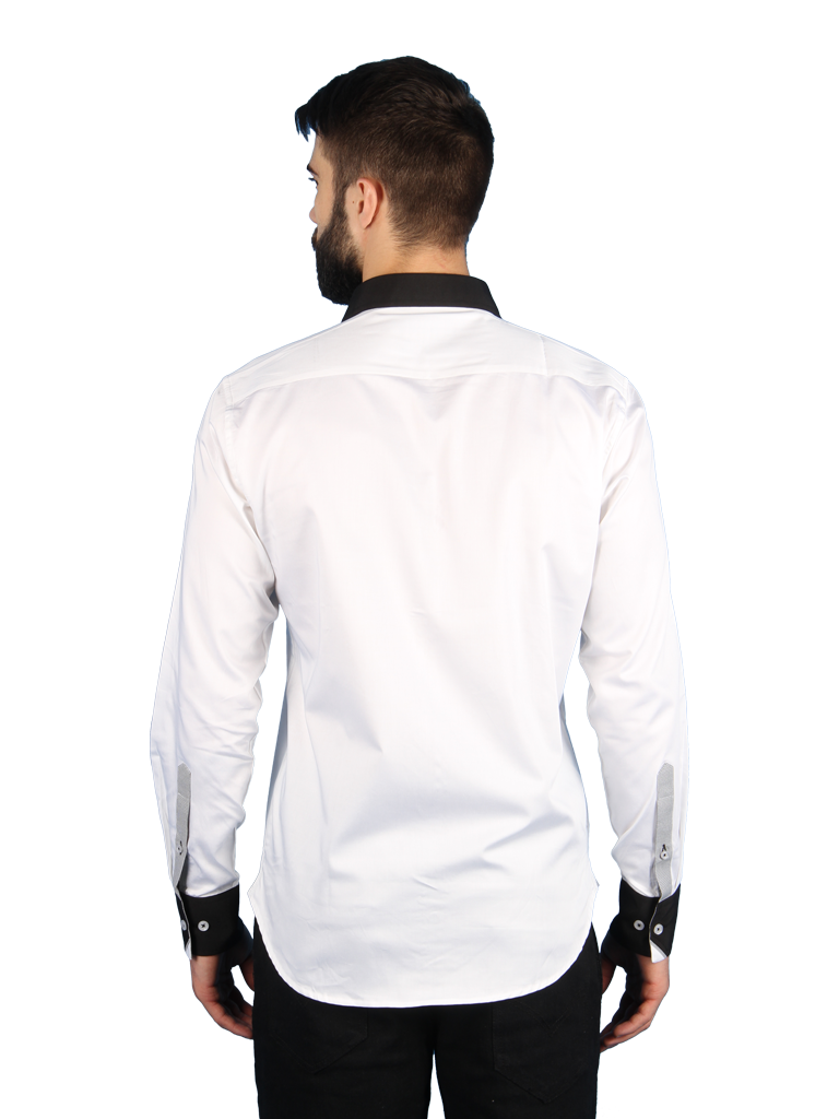 nouveau tux shirt fit back image