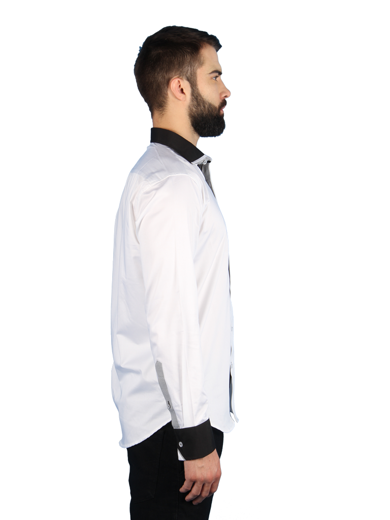 nouveau tux shirt fit right side image