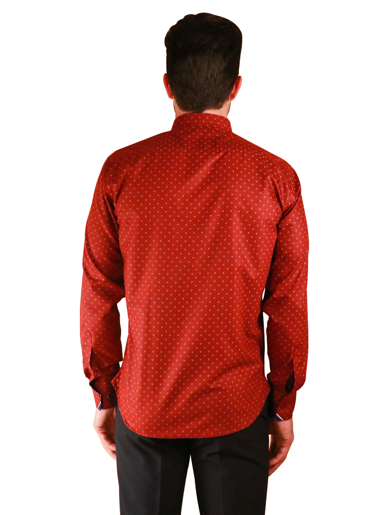 crimson star shirt fit back image