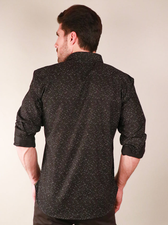 night sky shirt model image from back