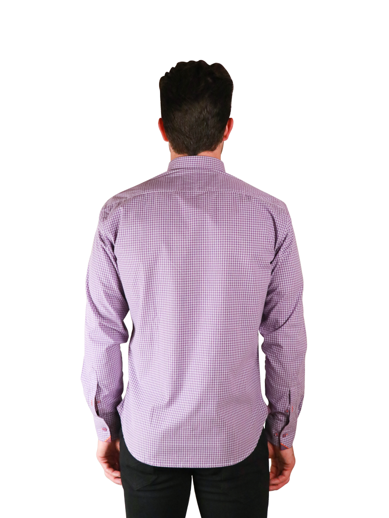 french lavender shirt fit back image
