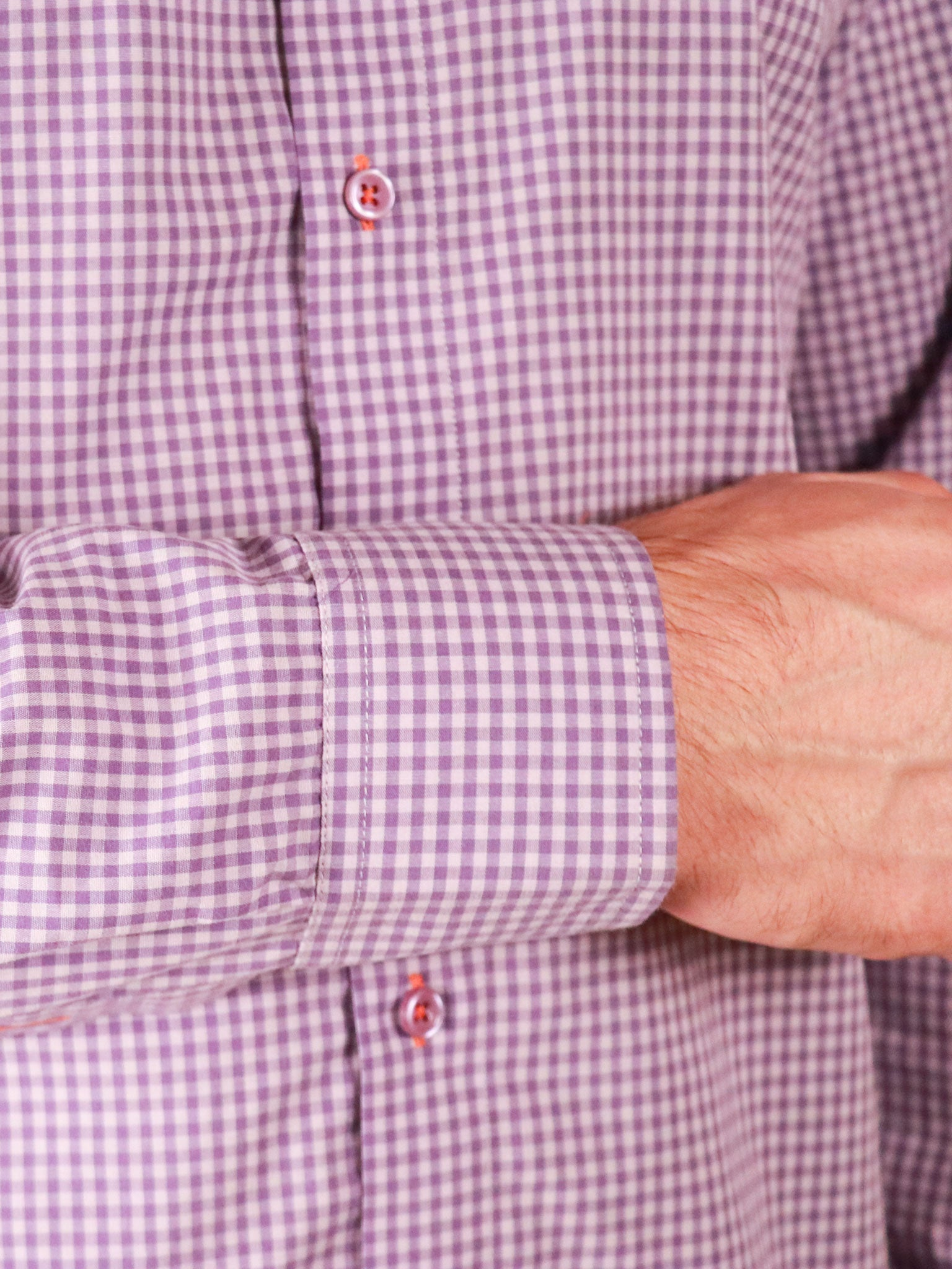 french lavender shirt image of cuff