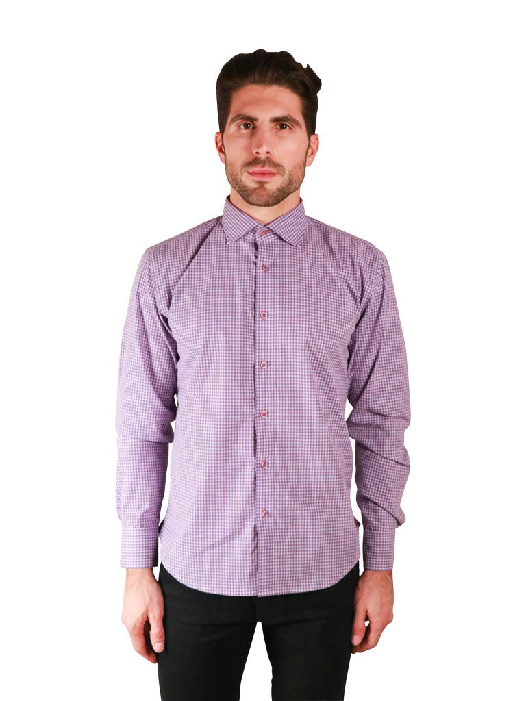 french lavender shirt fit front image