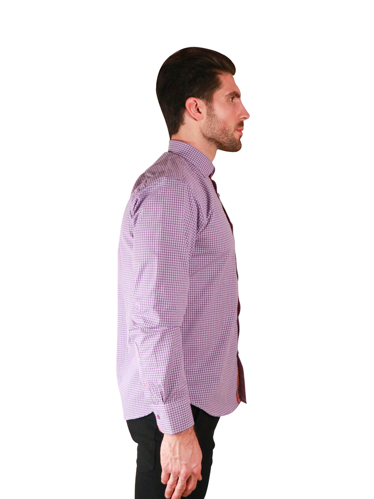 french lavender shirt fit right image