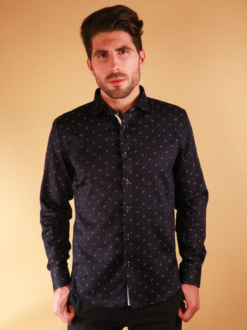 dark crossway shirt model image