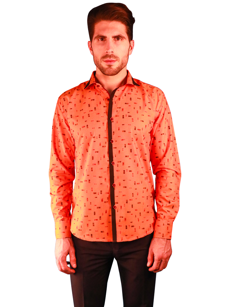 new orange shirt fit front image