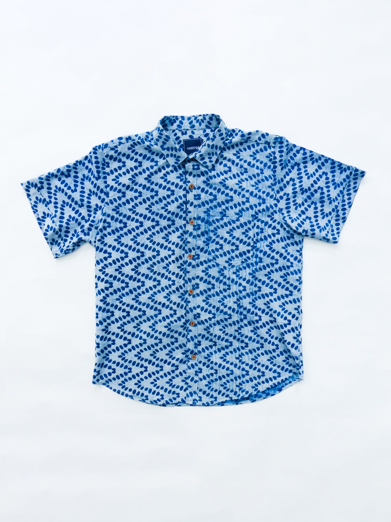 indigo leaves shirt image flat