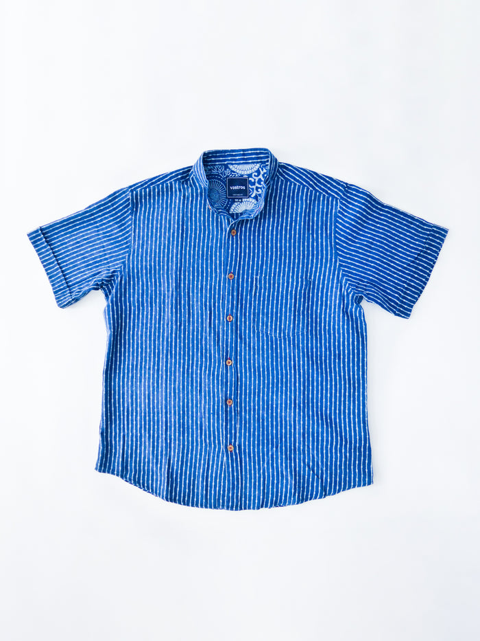 indigo stripes shirt image flat