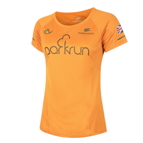 parkrun women's performance short sleeve t-shirt UK