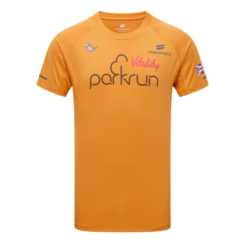 parkrun men's performance short sleeve t-shirt UK