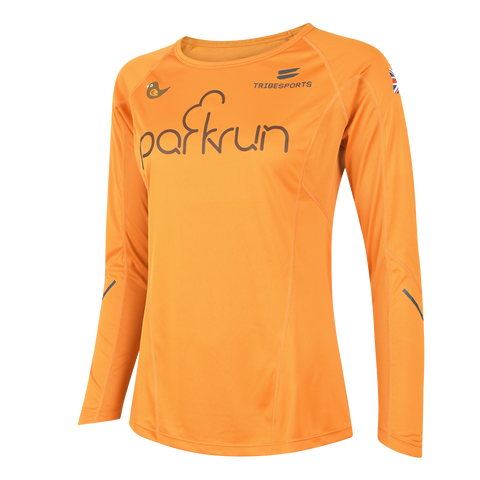 parkrun women's performance long sleeve t-shirt UK