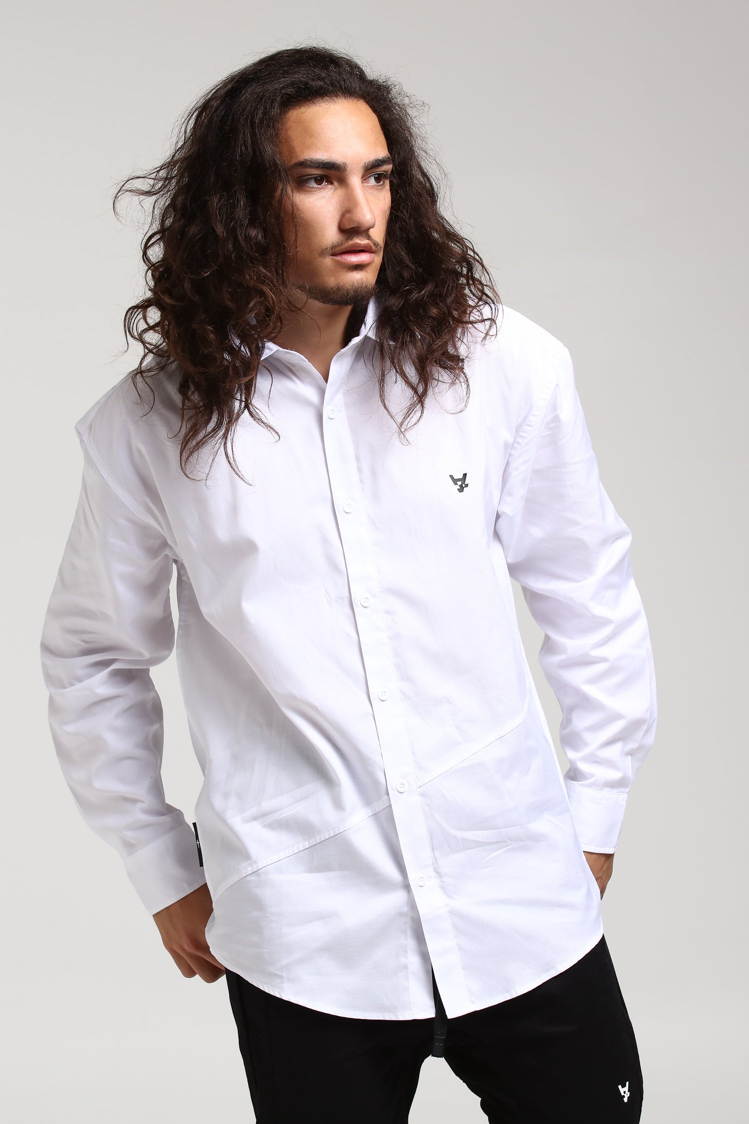 NON FORMAL L/S SHIRT - White