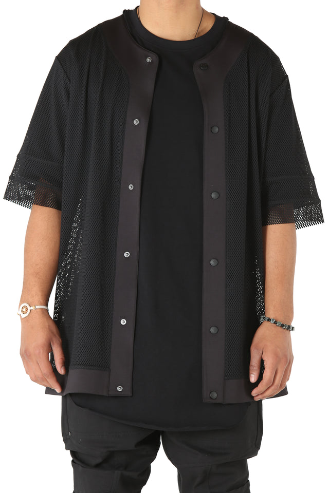 NON LEISURE LUX BASEBALL SHIRT - Black