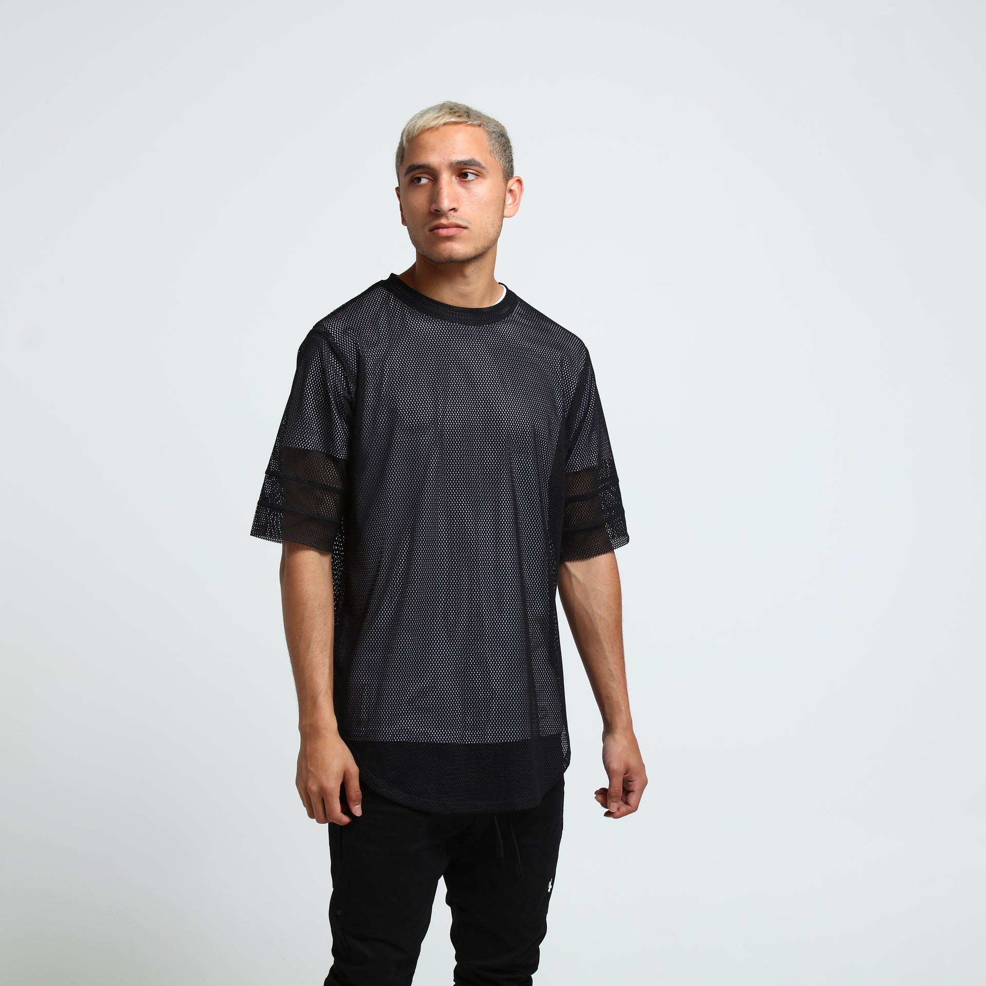 ANTI TEAM MESH TEE - Black