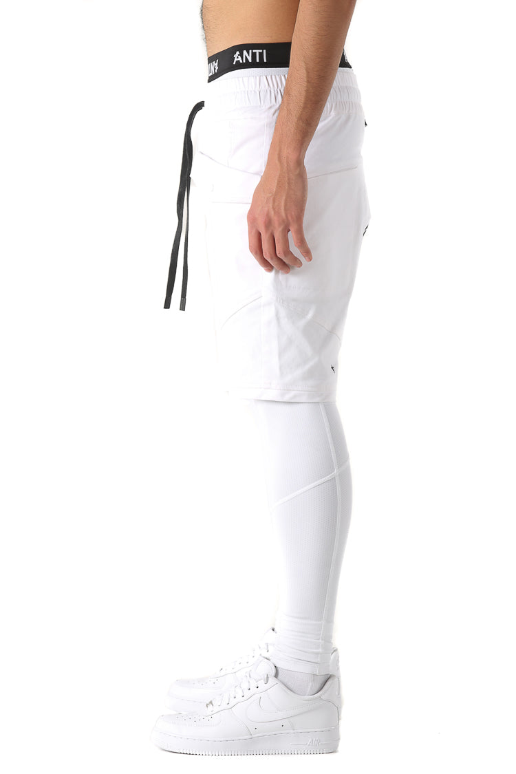 ANTI CARGO SHORTS - White