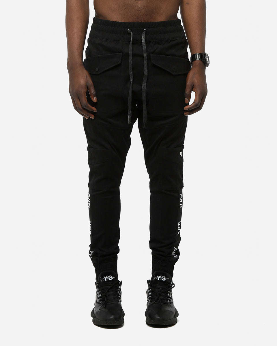 ANTI STRIPE CARGO PANT - Black